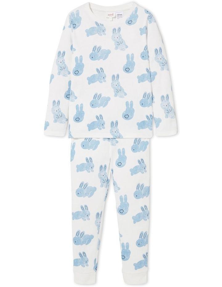 Blue Bunny Long Sleeve Pyjamas image 1