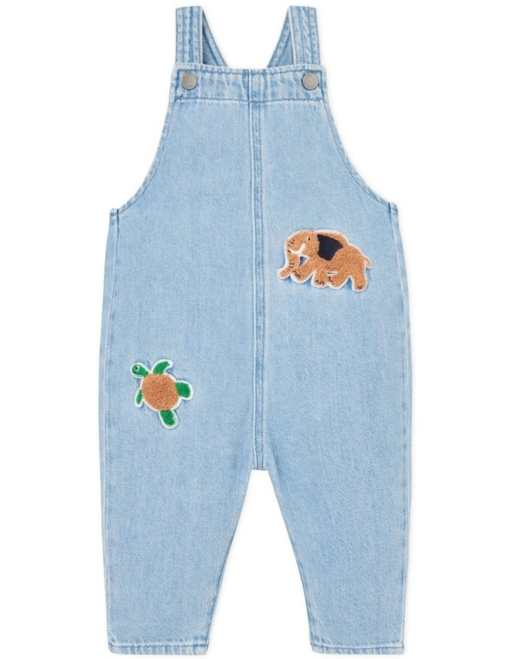 Patched Denim Overall image 1