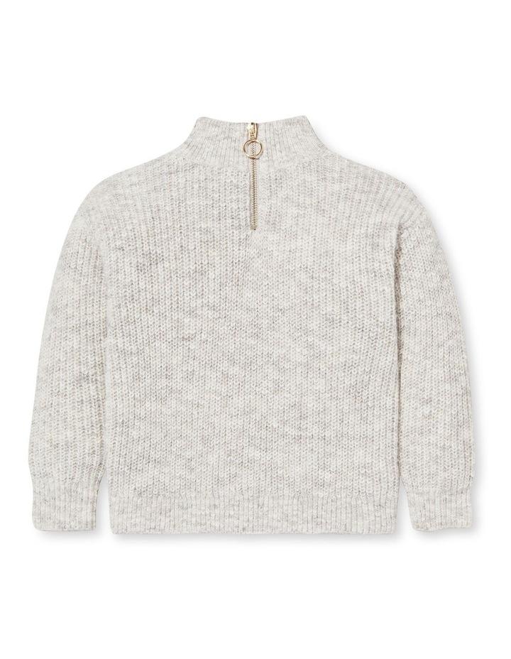 Zip Collar Knit Sweater image 1