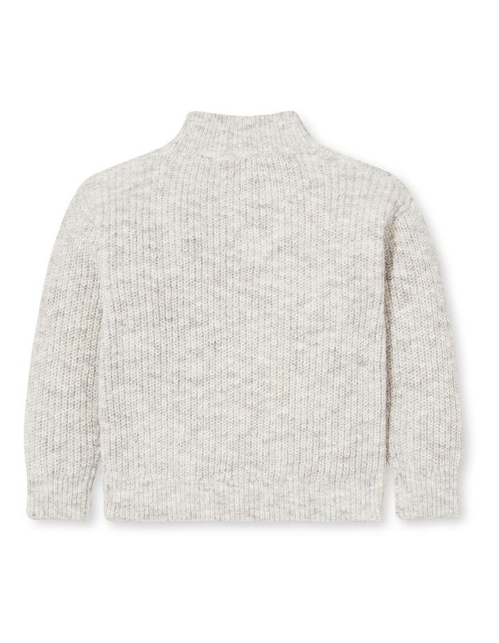 Zip Collar Knit Sweater image 2