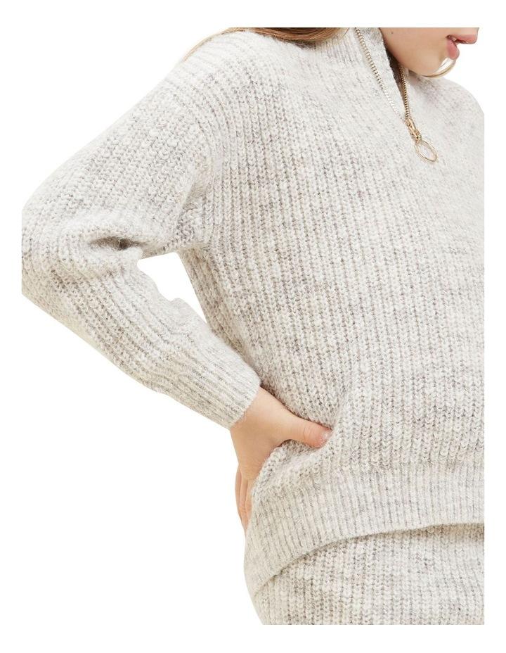 Zip Collar Knit Sweater image 3