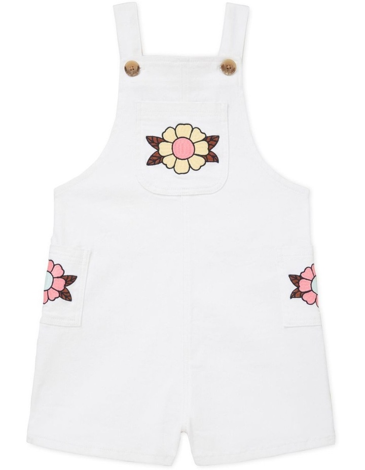 Embroidered Denim Dungarees image 1