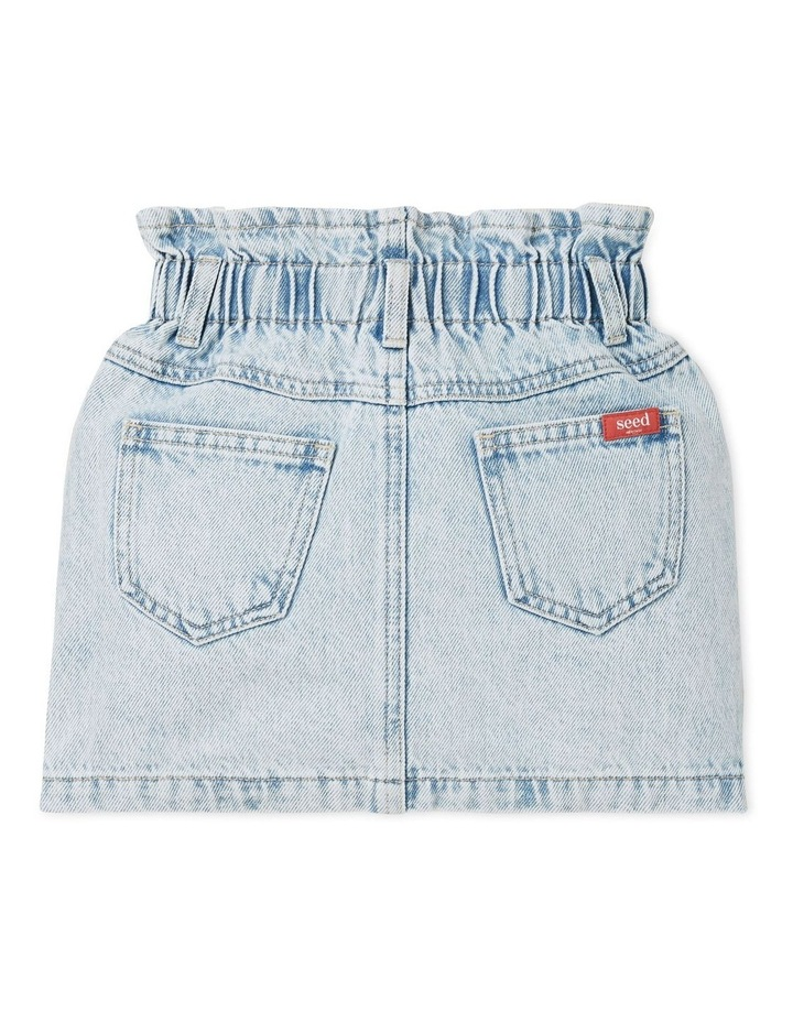 Paperbag Denim Skirt image 2