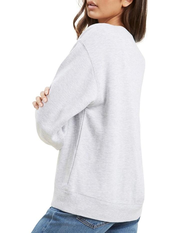 Varsity Cropped Sweater image 5