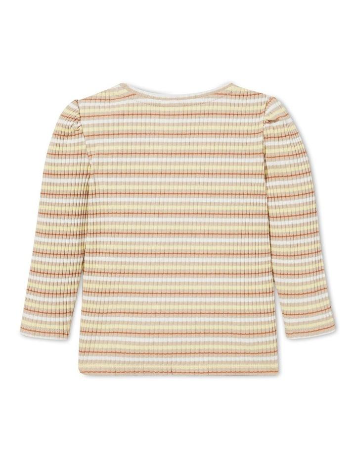 Striped Rib Long Sleeve Tee image 3