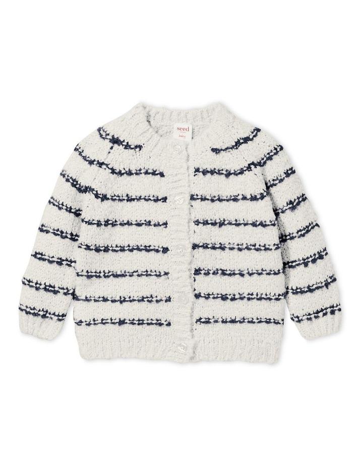 Fluffy Stripe Cardigan image 1