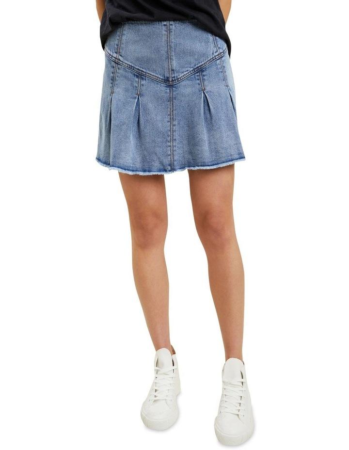Frill Denim Skirt image 1