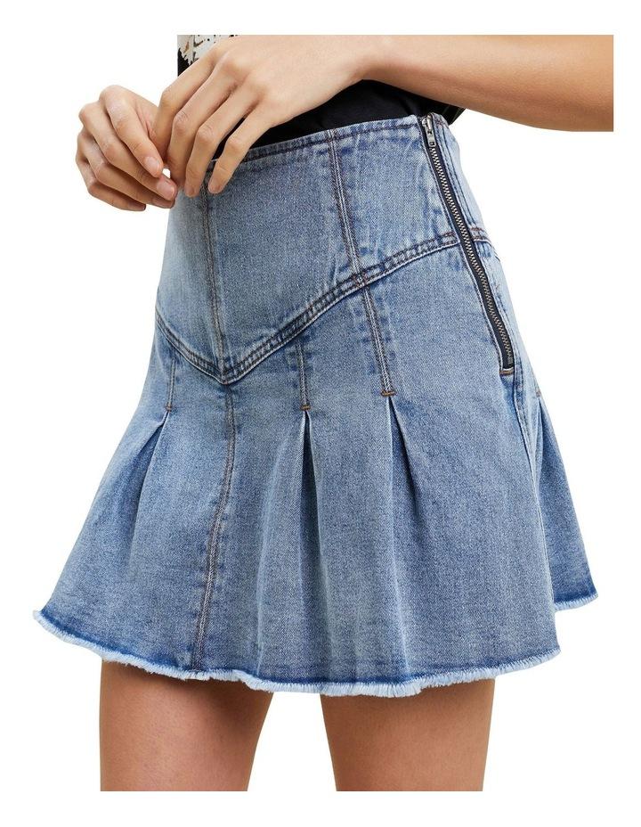 Frill Denim Skirt image 4