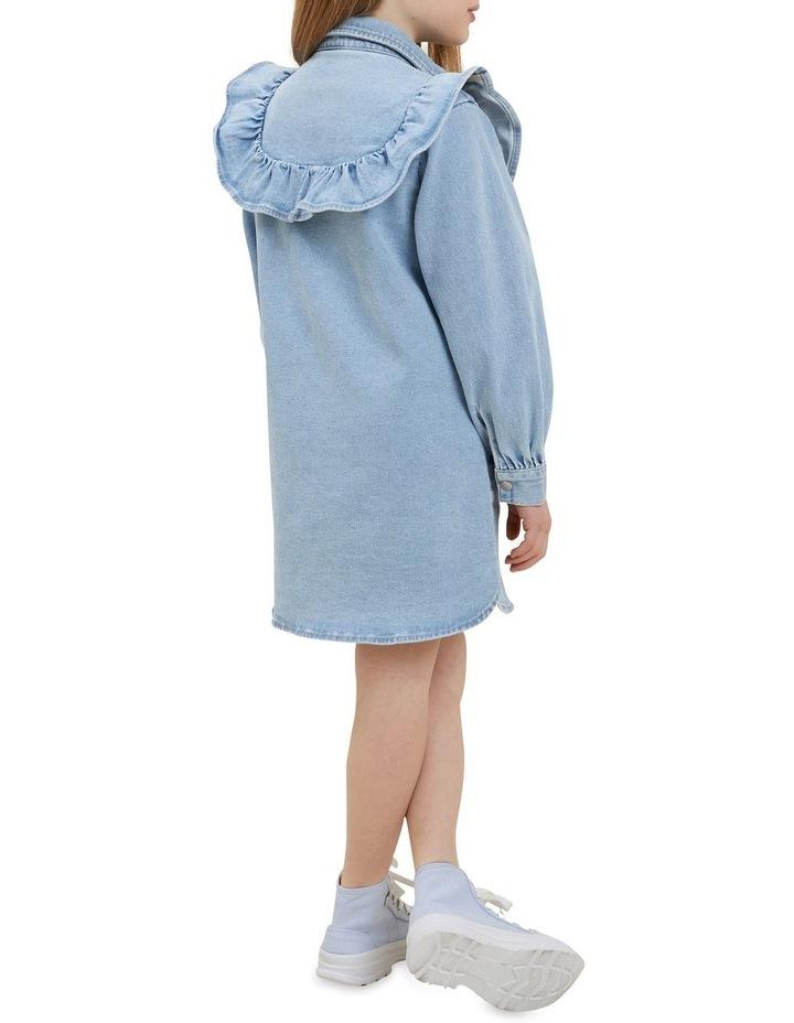 Denim Frill Dress image 5