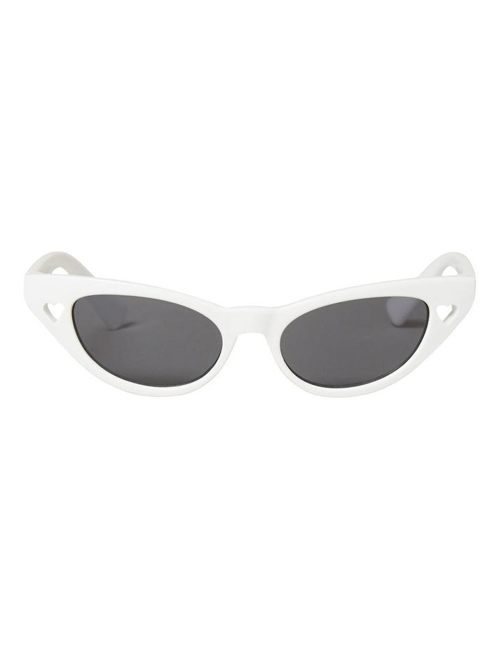 White Cat Eye Sunglasses image 1