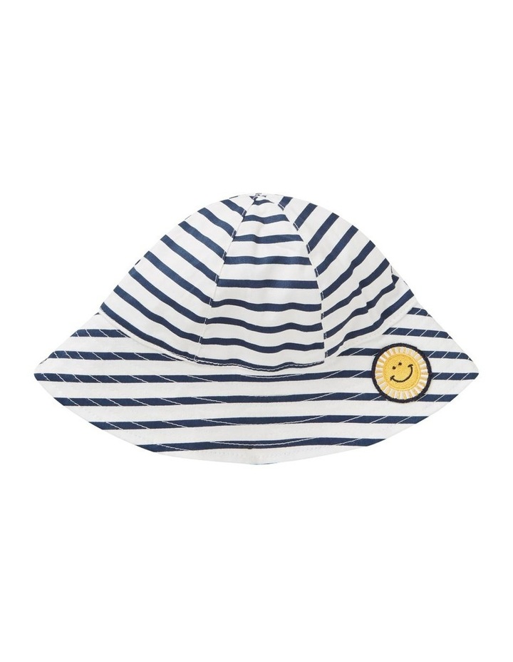 Stripe Smiley Sun Hat image 1