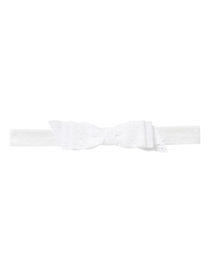 Broderie Bow Headband image 1