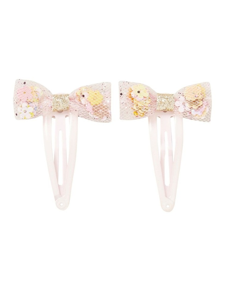 Flower Frilled Bow Snap image 1