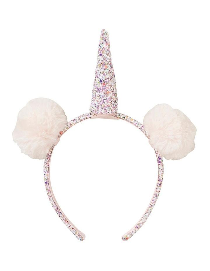 Glitter Pom Pom Unicorn Headband image 1