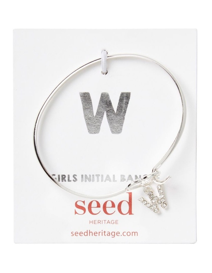 Silver Initial Bangle image 1
