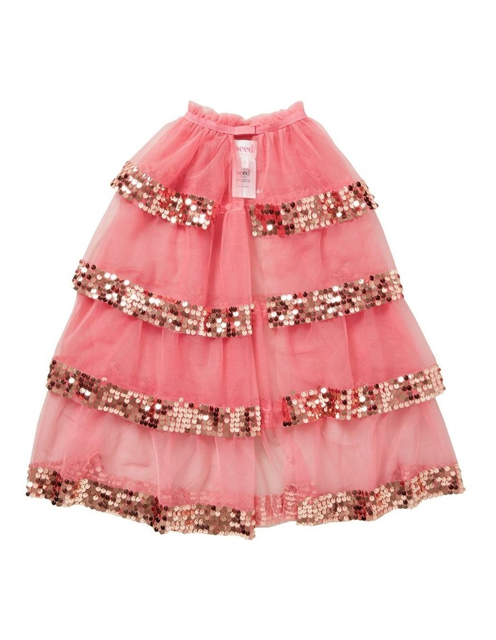 Sequin Tiered Party Cape image 1