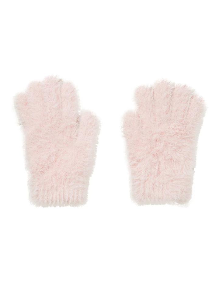 Fluffy Knit Gloves image 1