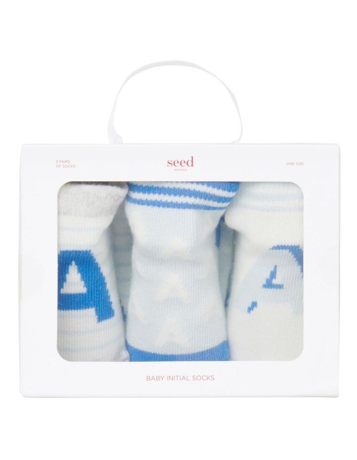 Initial 3 Pack Socks image 1