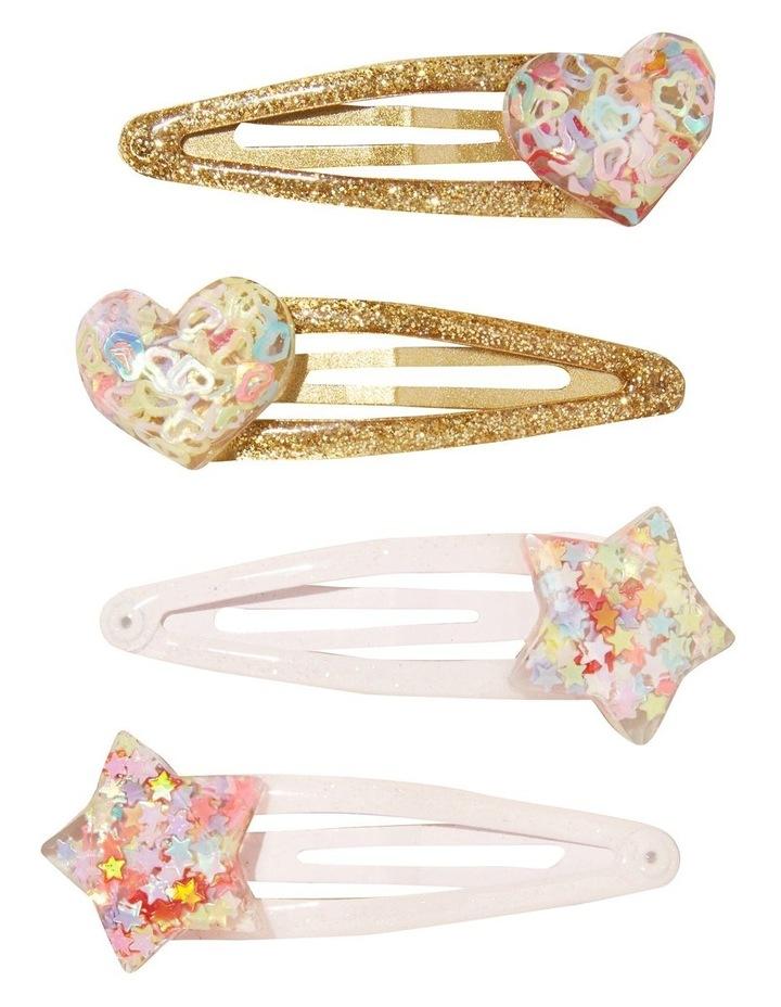 Glitter Heart Clip Multipack image 1