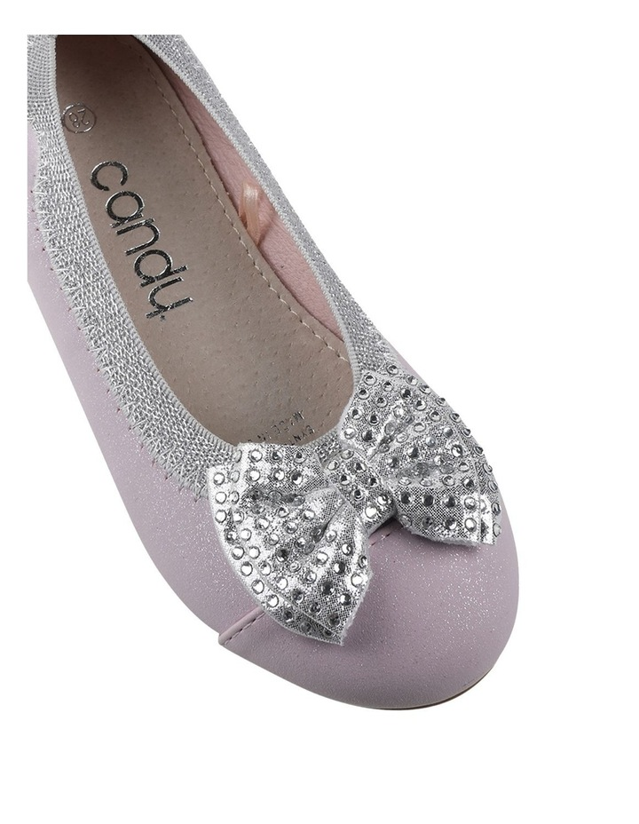 Charm Sequin Bow Girls Ballet Flat image 4