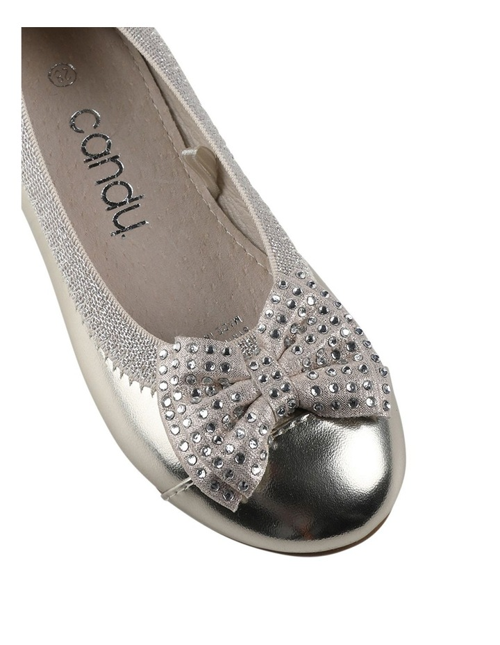 Charm Sequin Girls Bow Ballet Flats image 4