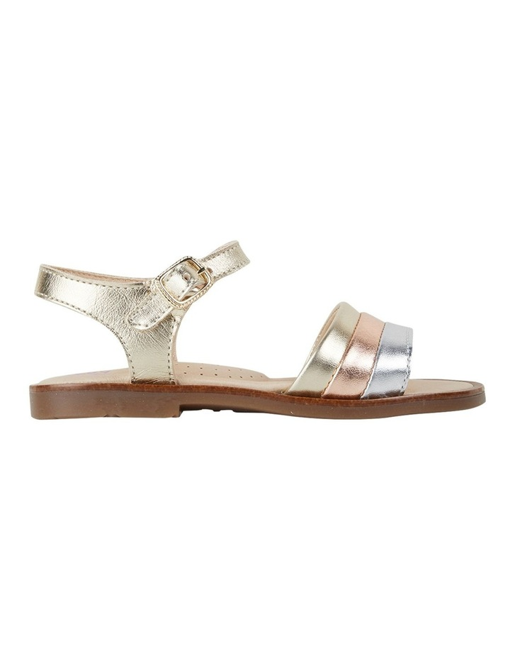 Metallic Stripe Girls Youth Sandals image 1