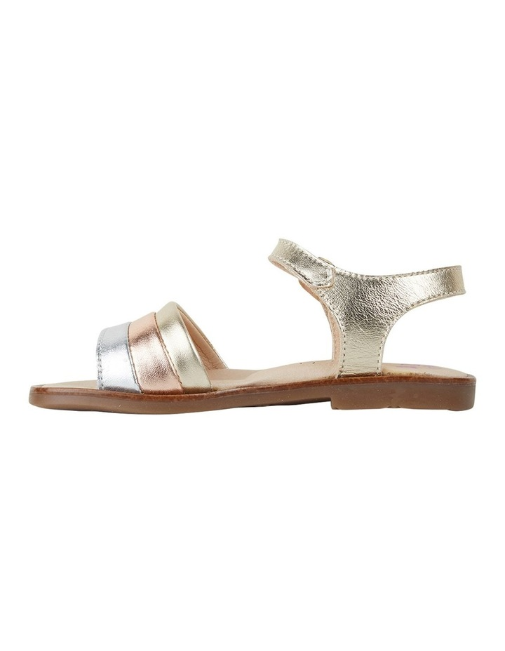 Metallic Stripe Girls Youth Sandals image 2