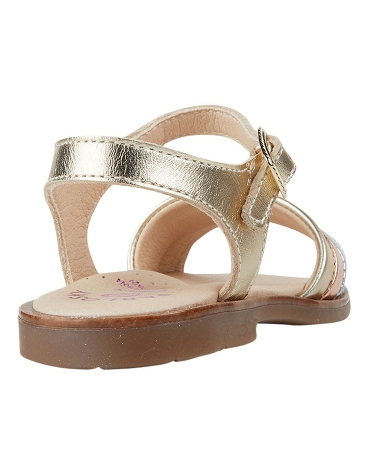 Metallic Stripe Girls Youth Sandals image 3