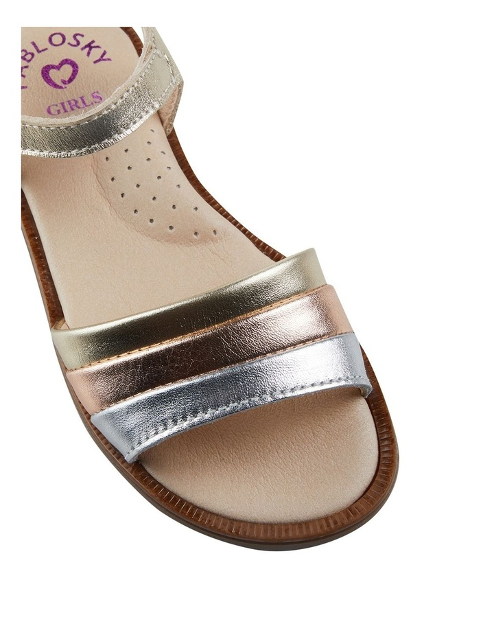 Metallic Stripe Girls Youth Sandals image 4
