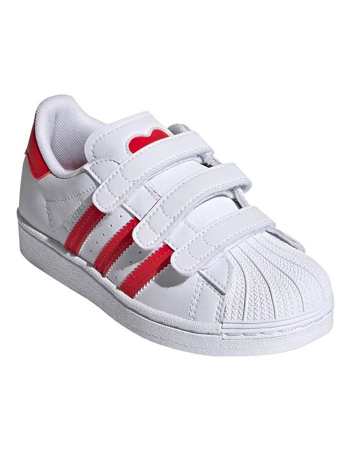 Superstar Heart Self Fastening Pre School Girls Sneakers image 3
