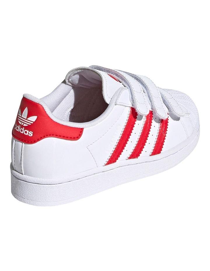 Superstar Heart Self Fastening Pre School Girls Sneakers image 4