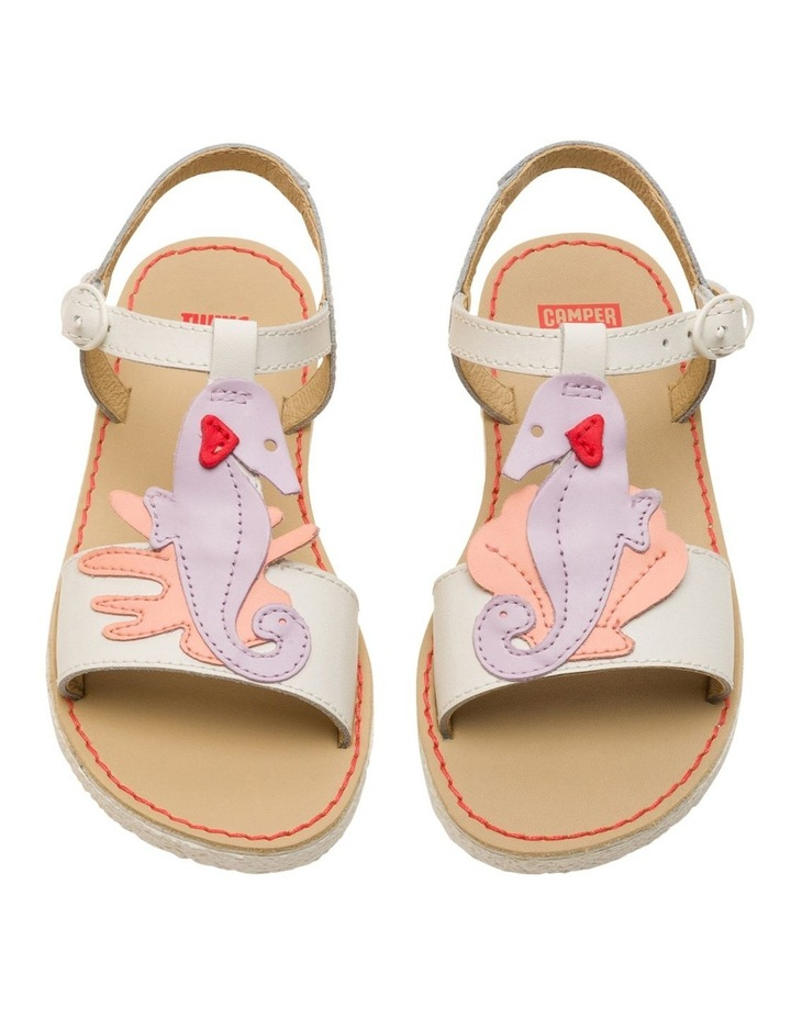 Twins Seahorse Youth White Sandals image 2