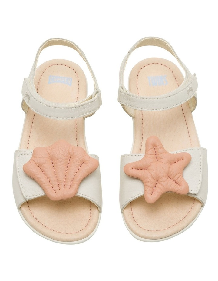 Twins Starfish Youth White Sandals image 2