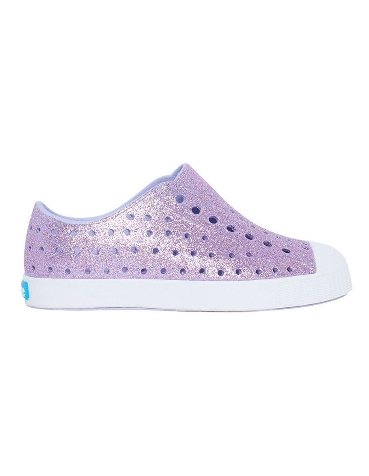 Jefferson Bling Youth Purple Glitter Sandals image 1