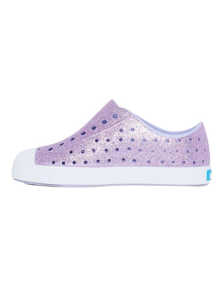Jefferson Bling Youth Purple Glitter Sandals image 2