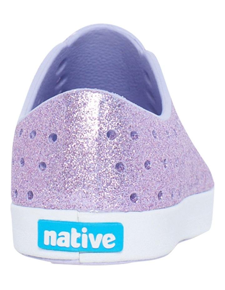 Jefferson Bling Youth Purple Glitter Sandals image 3
