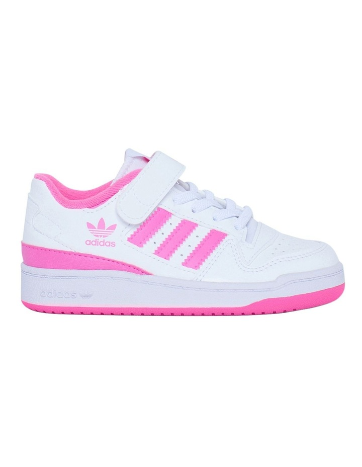Forum Low Pre-School Girls White and Pink Sneakers image 1