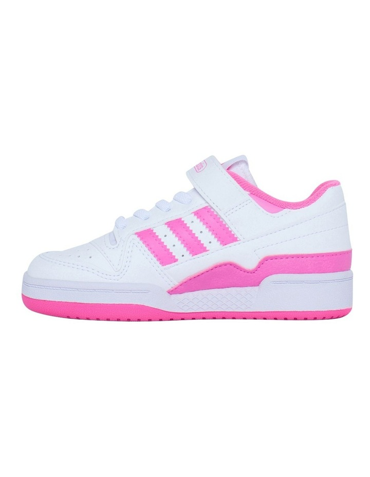 Forum Low Pre-School Girls White and Pink Sneakers image 2