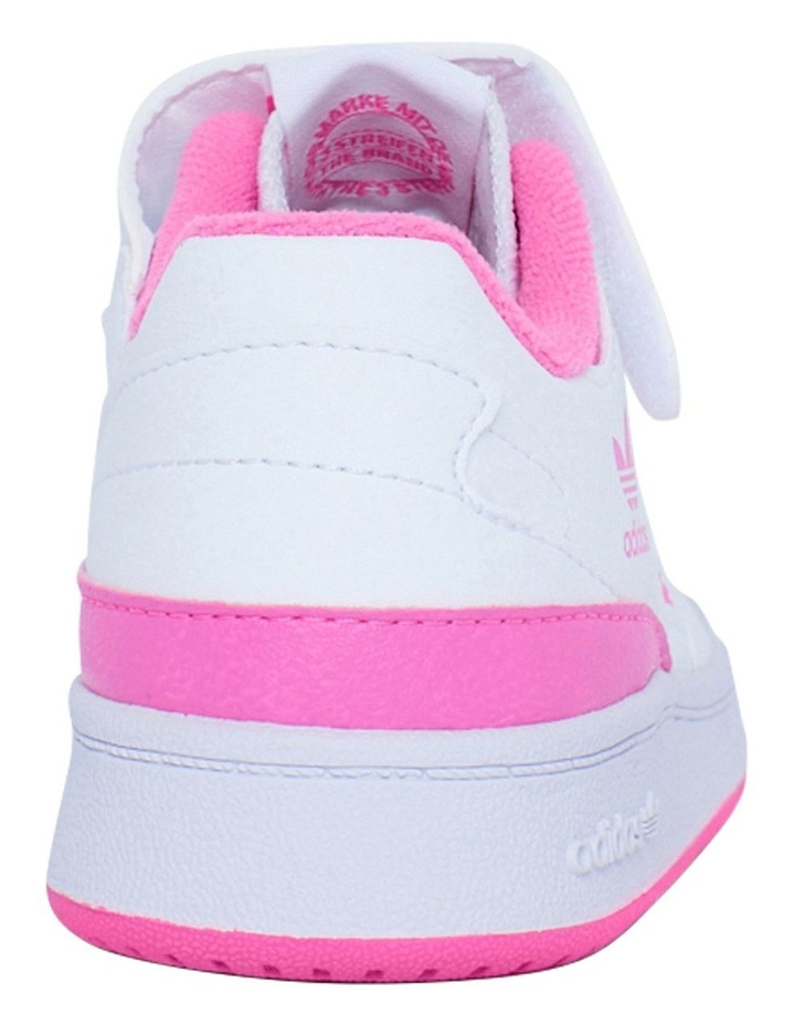 Forum Low Pre-School Girls White and Pink Sneakers image 3