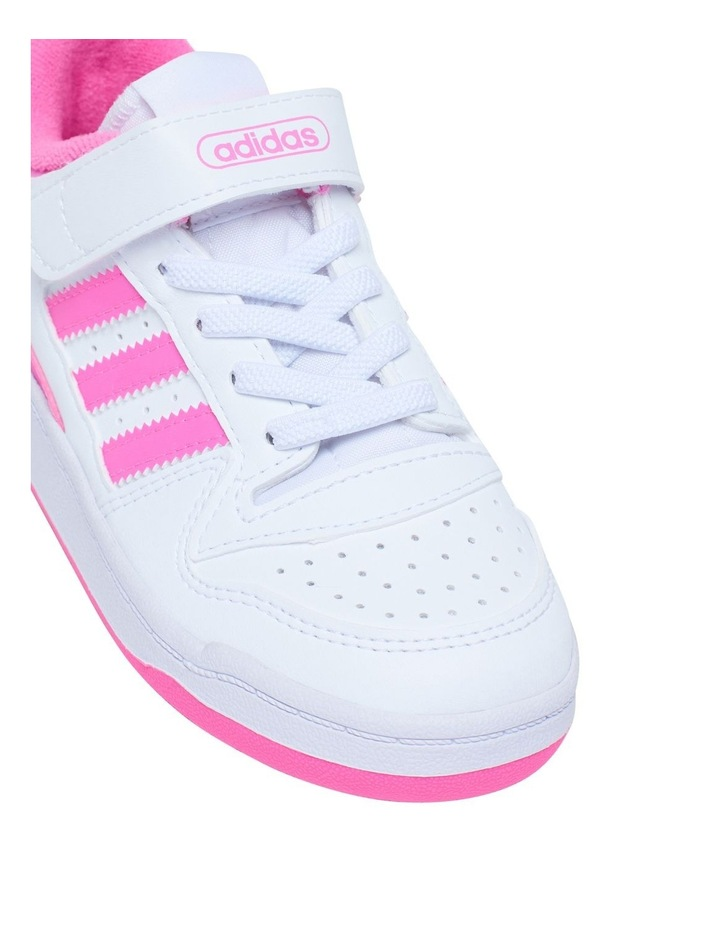 Forum Low Pre-School Girls White and Pink Sneakers image 4