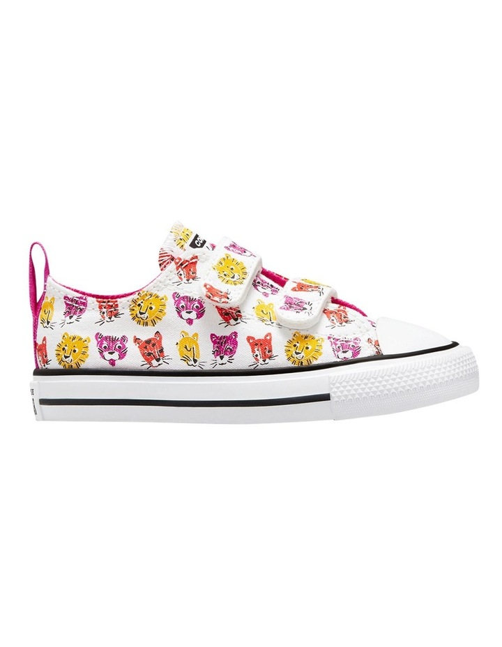 Chuck Taylor 2 V Jungle Cats Infant White Sneakers image 1