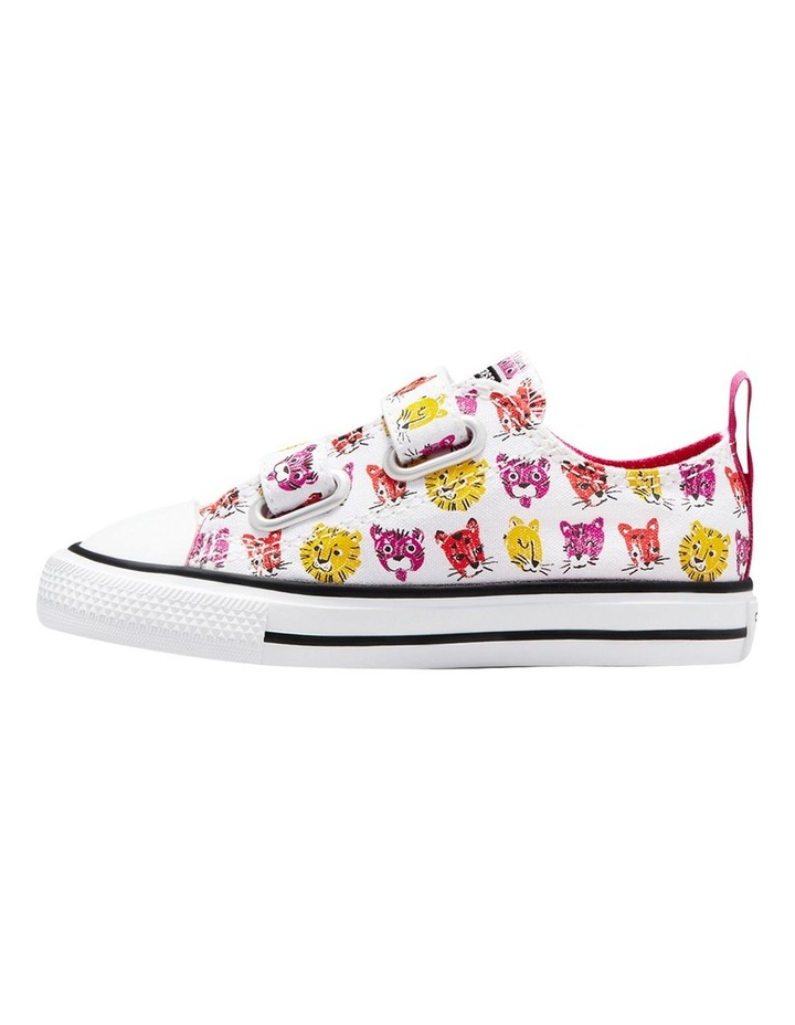 Chuck Taylor 2 V Jungle Cats Infant White Sneakers image 2