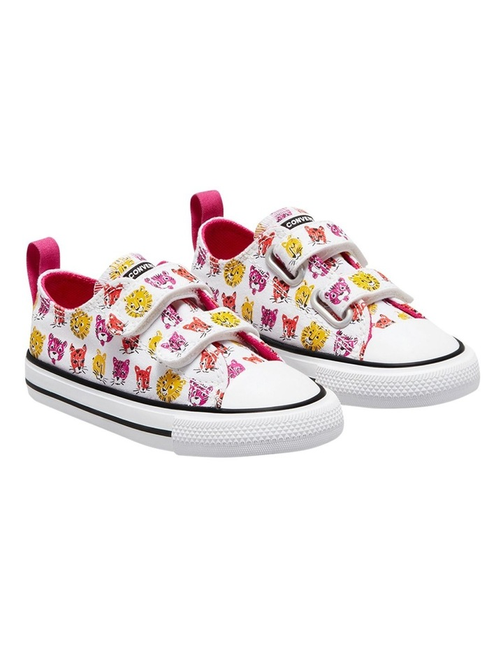 Chuck Taylor 2 V Jungle Cats Infant White Sneakers image 4