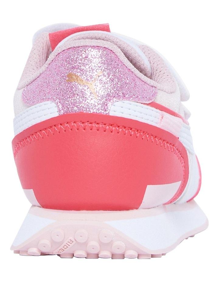 F Rider Ballerina Self-Fastening Pre-School Pink Sneakers image 3