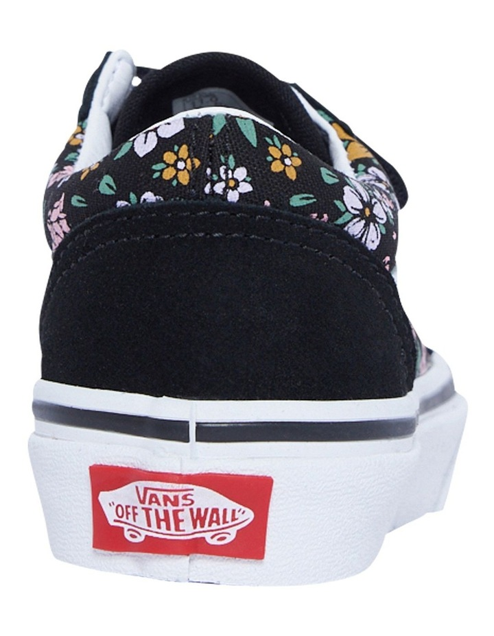 Old Skool V Floral Youth Black/White Sneakers image 3