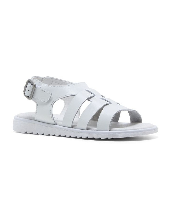 Yolanda White Sandals image 4