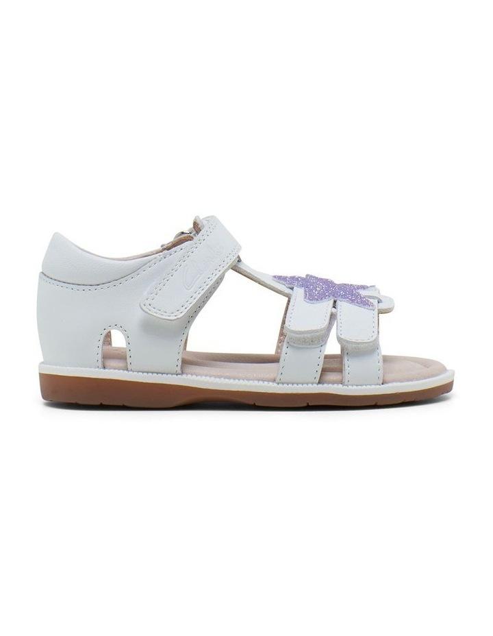 Calypso White Glitter Sandals image 1