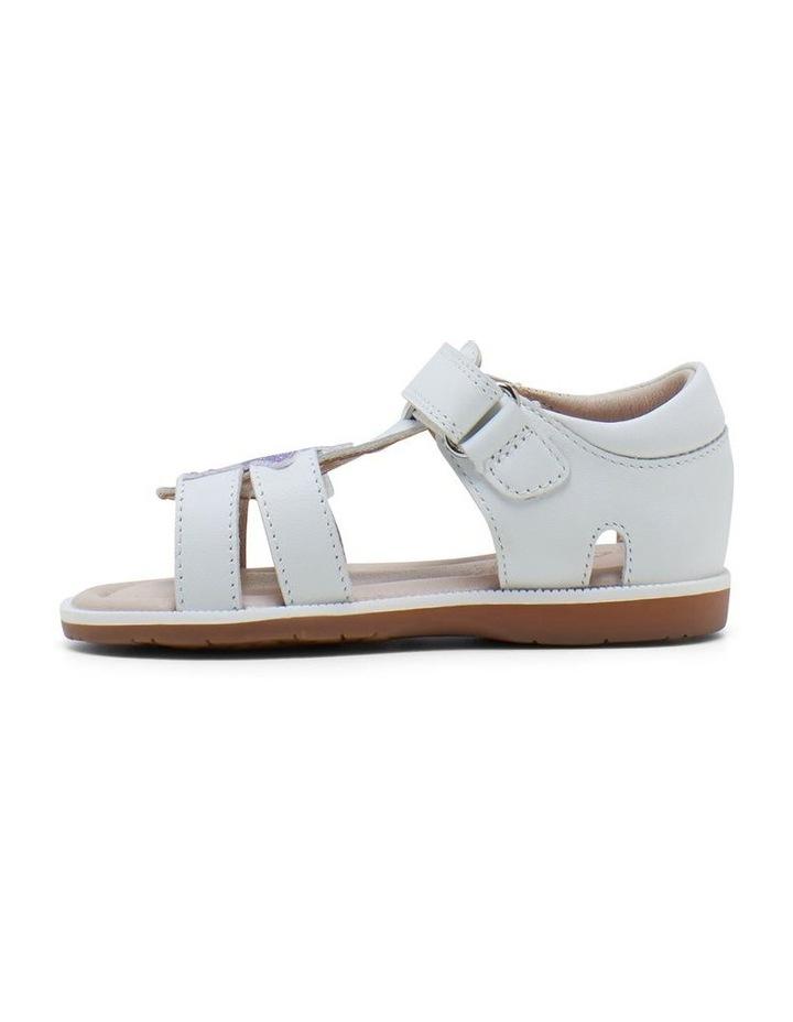 Calypso White Glitter Sandals image 2