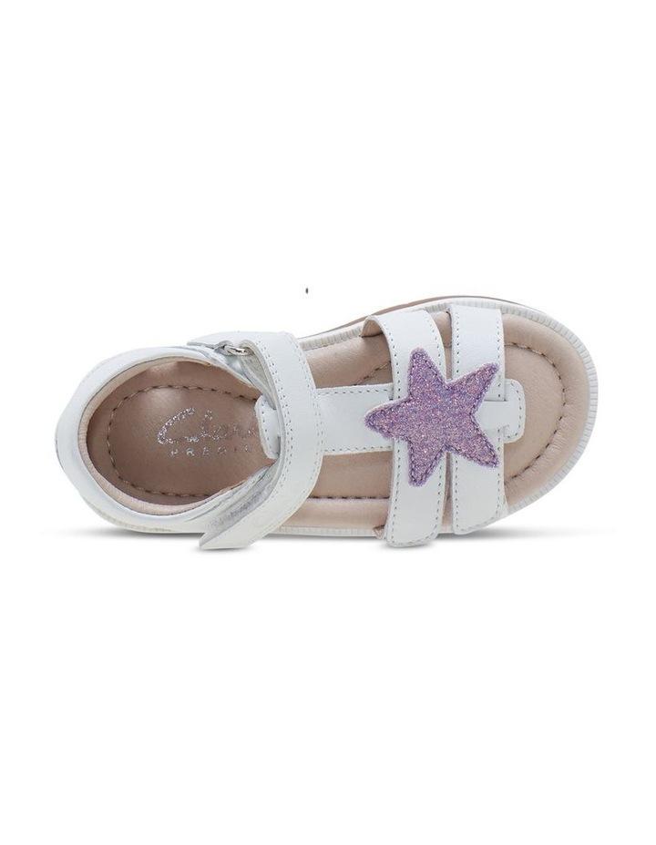 Calypso White Glitter Sandals image 4