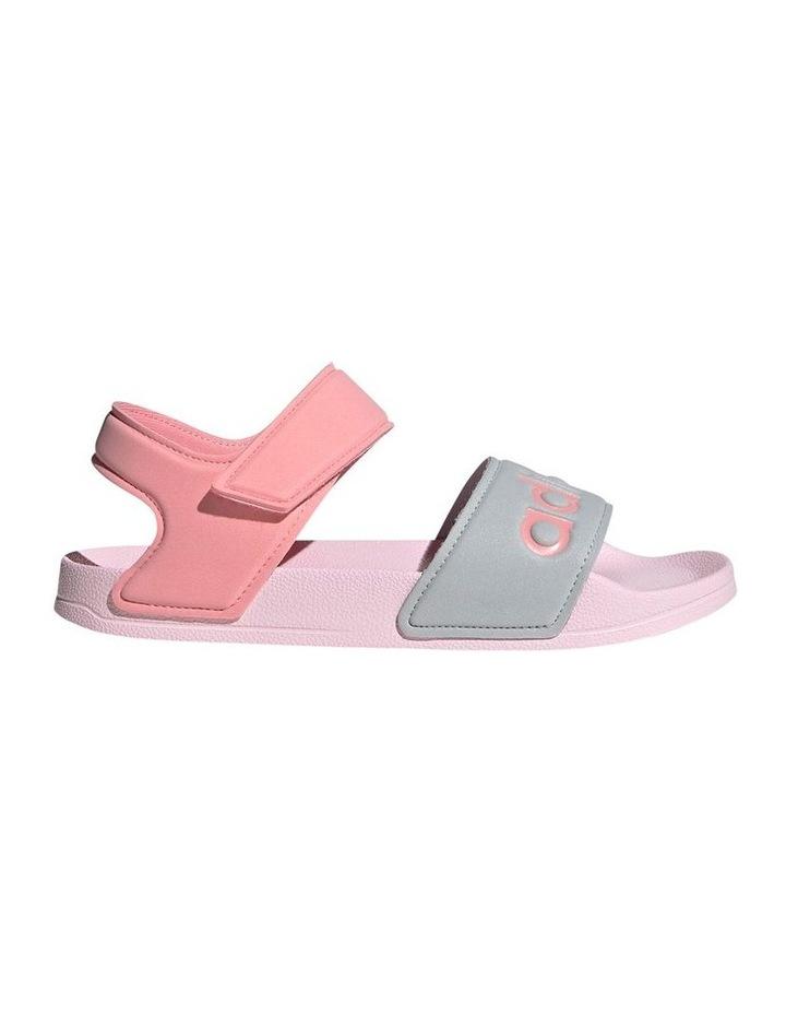 Adilette Sandal K Pink and Silver Sandals image 1